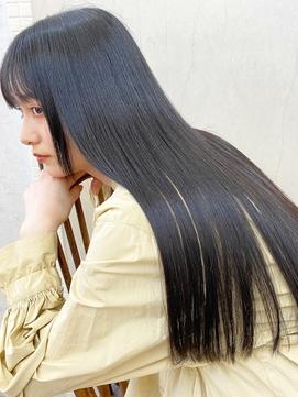 黒髪アッシュグレージュ×大人モード