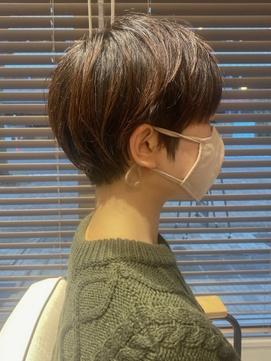 【GLASSI】大人かわいい★小顔耳掛けマッシュショート★髪質改善