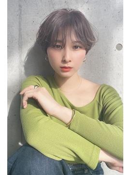 【Zina】エアリーミディ/黒髪/ホワイトアッシュ/