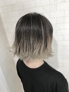 【Alma】外ハネボブ☆グラデーションアッシュブラウン
