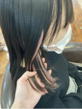 〈wave佐藤店〉シールエクステインナーカラーピンク黒髪