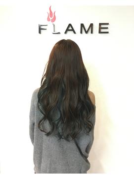 【FLAME 天文館】インナーカラー×イルミナカラーディープシー