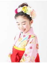 【ジュニア袴ヘア】小学生卒業式ゆるふわガーリーアップスタイル 小学生.60