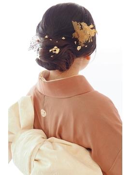 【成人式】金箔ヘアセット