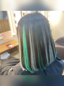 Green × Light Green カラーシール☆メッシュスタイル