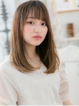 *mod's越谷*グラデカラー&斜めバング☆外国人風ワンカールa.39