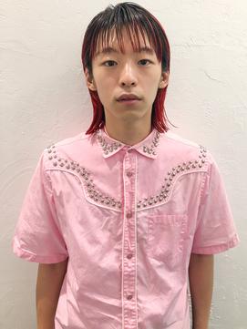 *【AO 晴】メンズボブ◎ルージュノワールダブルカラー