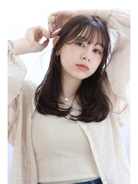 【lagoon阿部春菜】小顔シースルーバング×毛先ワンカールパーマ