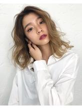 【BLend 渋谷】透明感ハニーベージュ_バレイヤージュ ASHIDA.46
