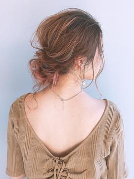 絶対カワイイRIKAアレンジ/ローシニヨン/ルーズアレンジ/後れ毛