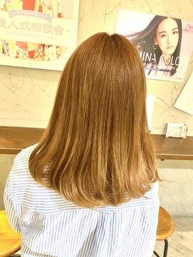 オレンジベージュ×ベージュ×透明感×夏カラー