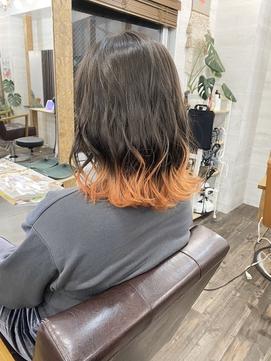 【Lilly渋谷】裾カラーxオレンジ