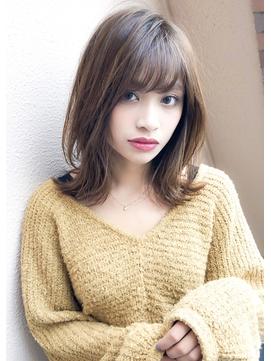 《Agu hair lilou》大人かわいいひし形ウルフレイヤーミディ小顔