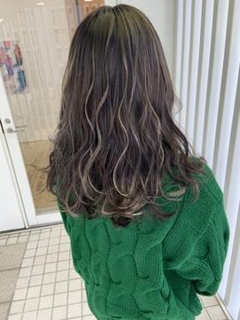 Lee梅田◆ハイライトアクセサリーカラー×大人かわいい黒髪風