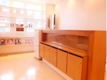 受付の横に冷蔵庫完備☆お買いもの帰りでも気軽に立ち寄れます♪