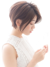 【GARDEN harajuku】高橋 苗 前下がり 小顔ショートボブ  エアリー.43