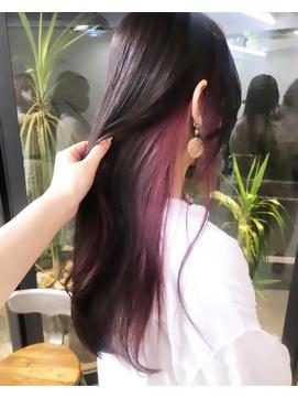 ◇カシスピンクのイヤリングカラー、インナーカラー◇