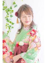 ふんわりハーフアップ袴アレンジ.17