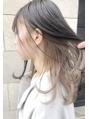 【堀惠洋平】ミルクティーベージュ インナーカラー ブロンド20代