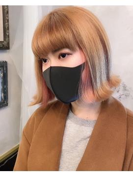 キャメルベージュ×インナーパールピンク【vancouncilpetit】