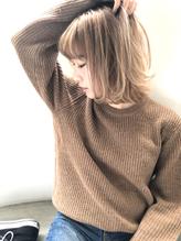 【Vicke渋谷】切りっ放しブロンドボブ .54