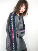 切りっぱなしSバング×レトロカール☆カジュアル甘辛MIXミディ♪ フェミニン.53