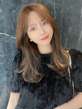 【赤川敬一】20代30代40代◎韓国式小顔レイヤーシースルーバング