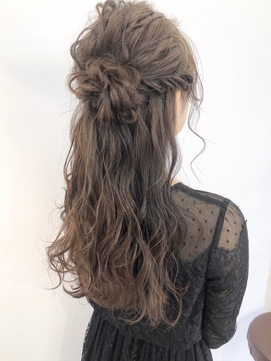 【Befine京都】結婚式や二次会に!巻き髪たっぷりハーフアップ★