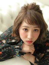 切りっぱなしボブ★上品三つ編みハーフアレンジ.24