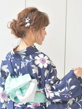 浴衣ヘア☆編み込みまとめ髪【AUTRE綱島店】.3