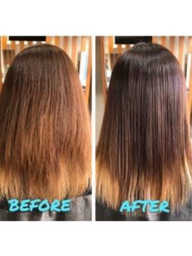 【髪質改善】ふんわり縮毛矯正/カラー/20代/剛毛・くせ毛が悩み