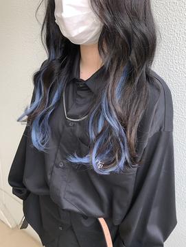 【ANKH CROSS原宿店 Mizuki】ブリーチなしインナーブルー