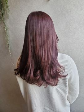 ピンクブラウンカラー×愛されカラー×韓国人風カラー