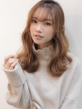 《Agu hair》韓国風ゆるカールミディ