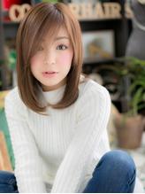 *+COVER HAIR+*…うざバングがPOINT♪透明感☆ストレートc 小悪魔.25