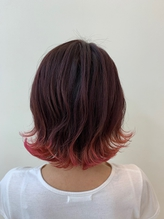 裾カラー ペリーピンク×ピンクチェリー.39