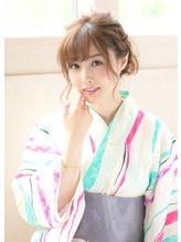 《Barretta/蒲田》☆浴衣着付け☆お祭り☆くるりんぱアレンジ☆ バレッタ.5