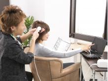 専用マイクロスコープにて、毛髪・頭皮・お肌の状態を徹底診断☆