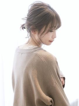 [URA]ざっくりローポニー 後れ毛 ゆるっと