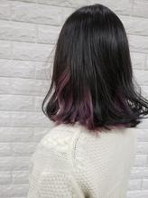 《個性的+モード+黒髪》インナーカラードン・パープル.33