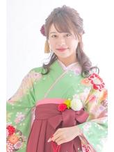 ふんわりハーフアップ袴アレンジ.27