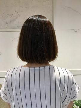 [30代・40代大人女性]襟足ギリギリワンカールボブ中目黒