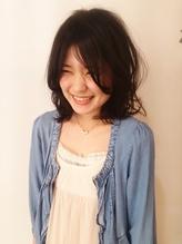 【zing ebisu】 △ふんわりミディ△黒髪×センターパート まとめ髪.18