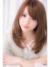 【Euphoria】思わず触れたくなるミルクティーカラー☆姫カット 前髪パーマ.21