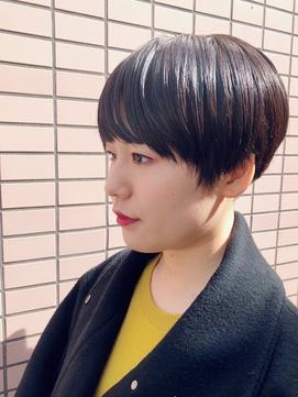 黒髪×ミニマッシュ