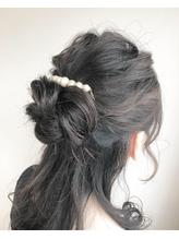 【ao hair garden】お団子ハーフアップスタイル.2