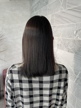 《Jill ankh姫路駅前》艶髪縮毛矯正☆ 伸ばしかけミディアム