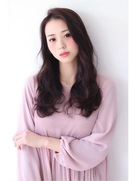 ヨシンモリ風・かき上げ前髪・ブラウンカラー・艶髪