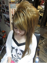 左寄せストレート盛り髪 盛り髪.59