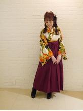 卒業式ヘアセット+袴着付け .53